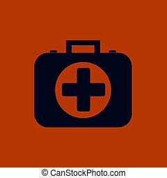 first aid kit icon. Illustration