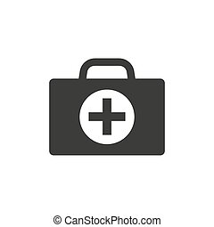 First aid kit icon on white background.