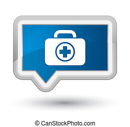 First aid kit icon prime blue banner button