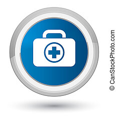 First aid kit icon prime blue round button