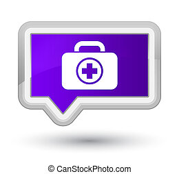First aid kit icon prime purple banner button