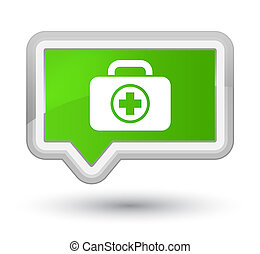 First aid kit icon prime soft green banner button