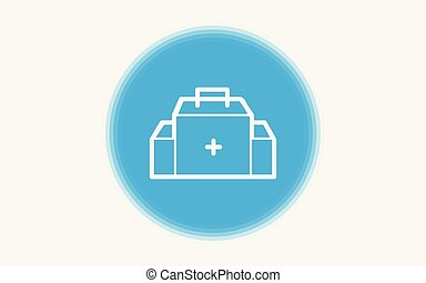 First aid kit icon sign symbol