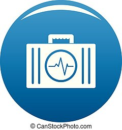 First aid kit icon vector blue