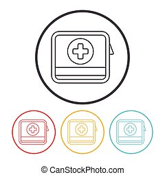 First aid kit line icon