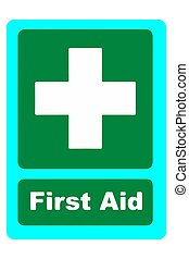First aid kit medical icon vector
