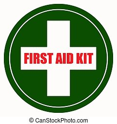 First Aid Kit Sign vector illustration eps 10