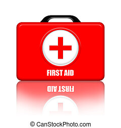 First Aid Kit isolated over white background
