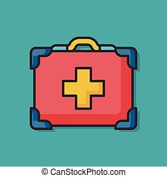 First aid kit vector icon