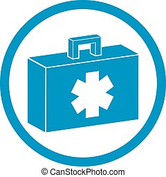 First aid kit vector icon isolated.
