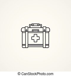 First aid kit vector icon sign symbol