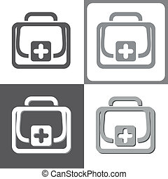 First aid kit, vector illustration