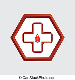 First aid medical button .