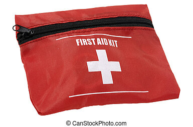 First Aid - Photo of a First Aid Kit - Isolated - Health...