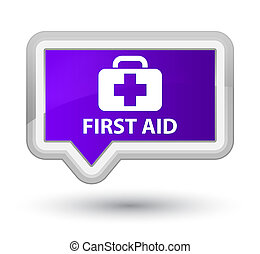 First aid prime purple banner button