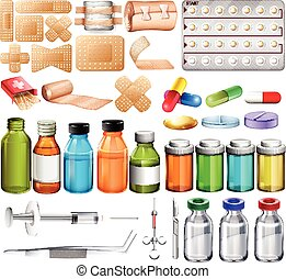 First aid - Set of first aid stuff commonly used