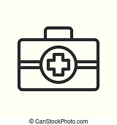 first aid simple outline icon, vector illustration