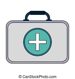First aid suitcase symbol