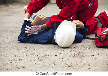 First aid training - Accident at work