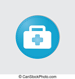 First aid vector on white background.