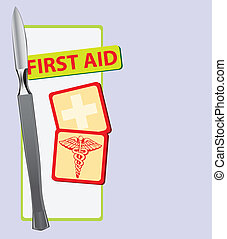 First Aid with a scalpel