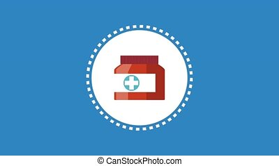 First aids and medicine HD animation - First aids round icon...