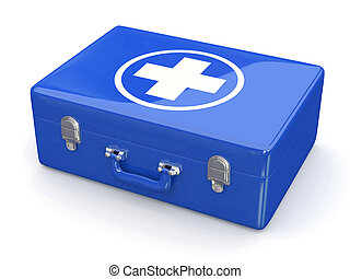 First aids. Medical Kit on white isolated background