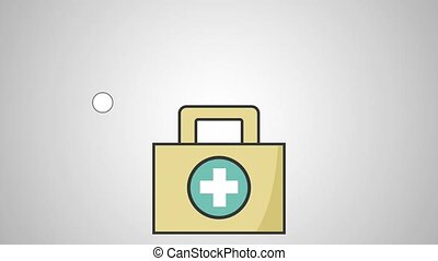 First aids suitcase HD definition HD definition