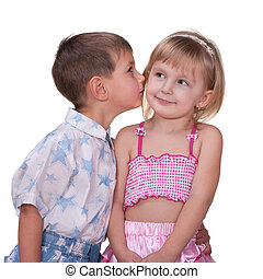 First attempt to kiss a girl