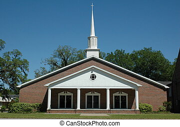 Baptist Church - First Baptist Church of Trenton, Florida.