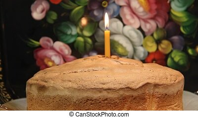 First Birthday Cake and one candle