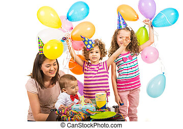 First birthday party of boy