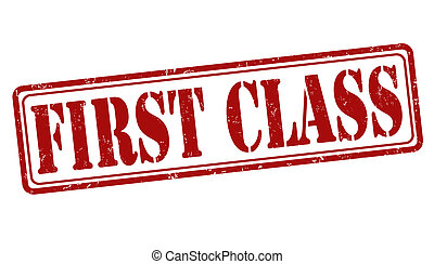 First class offer stamp - First class offer grunge rubber...