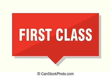 first class red tag - first class red square price tag