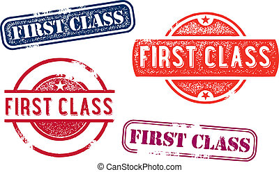 First Class Rubber Stamp Imprints - First class stamps for...