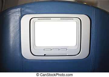 First Class Seat Back Cut Out TV Screen - First class seat...
