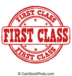 First class stamp - First class grunge rubber stamp on...