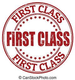 First class stamp - First class grunge rubber stamp, vector...