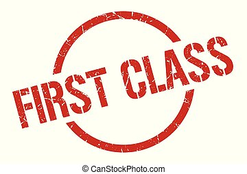 first class stamp - first class red round stamp