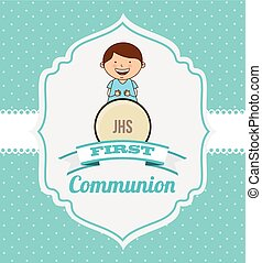 first communion card design