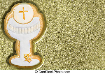 first communion chalice background