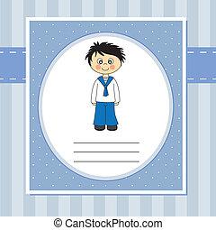 First Communion Invitation Card boy