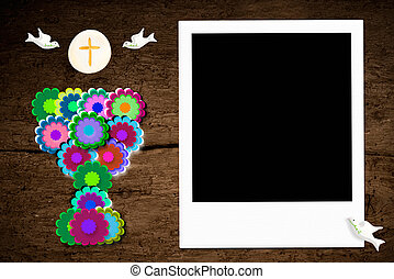 First Communion photo frame - First communion, chalice and...