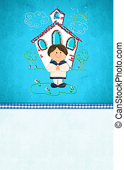 First Communion  reminder card for boy
