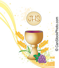 Symbolic illustration for the first communion.