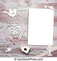 First Communion vertical photo frame card