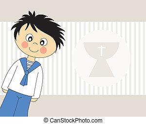 First Communion.Boy - First Communion Invitation Card. Boy