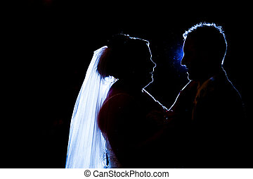 First dance silhouette