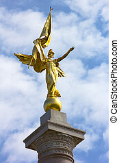 First Division Monument in President's Park near White House...