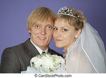 First family portrait of groom and bride
